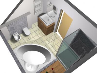 Projekt łazienki 15 m<sup>2</sup>