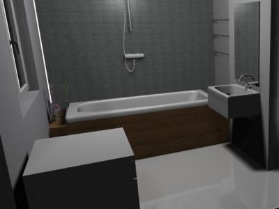 Projekt łazienki 5,5 m<sup>2</sup>